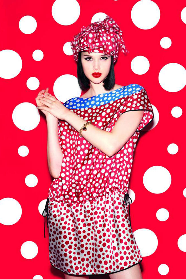 Louis Vuitton Yayoi Kusama collection dress