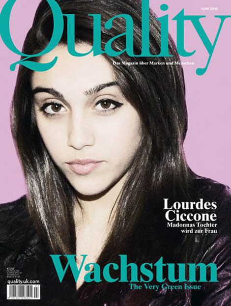 Lourdes Ciccone Quality magazine June 2010 cover
