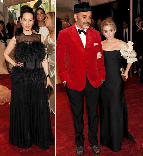 Lucy Liu Ashley Olsen black dresses Met Gala 2011