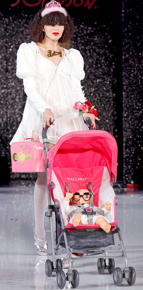 MacLaren Baby Stroller On Betsey Johnson's Spring 2013 Catwalk!