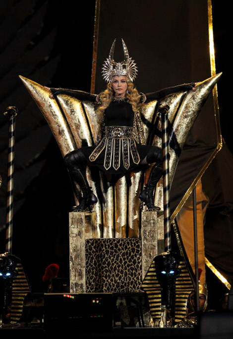 Madonna Egyptian Givenchy wardrobe Super Bowl 2012