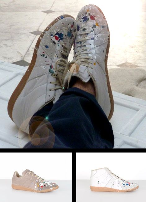 Maison Martin Margiela Sneakers splashes of paint