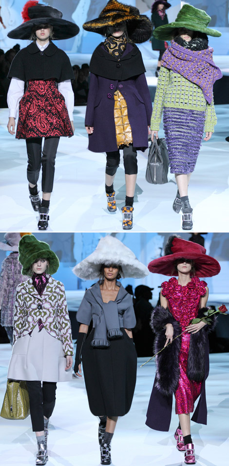 Mad Hatter's Layers Patchwork: Marc Jacobs Fall 2012