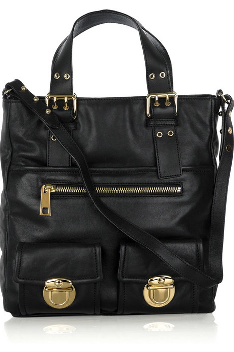 Marc Jacobs Stella black leather tote