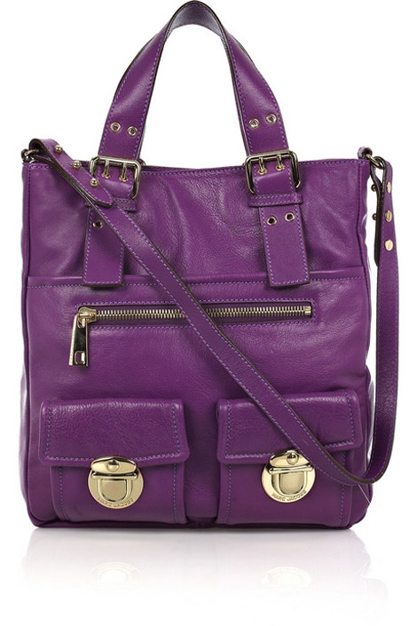 Marc Jacobs Stella purple leather tote
