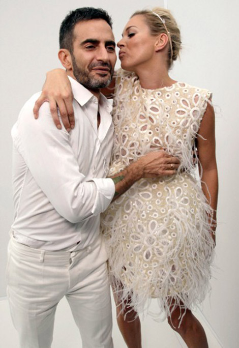 Marc Jacobs with Kate Moss