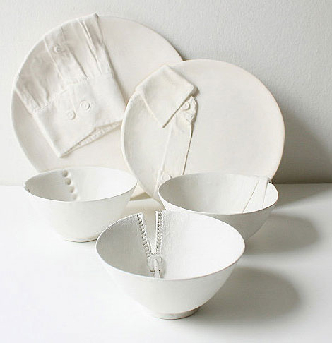 Marianne Van Ooij dressed for dinner ceramics