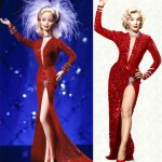 Marilyn Monroe iconic red dress Barbie Doll