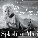 Marilyn Monroe out of the water photo session