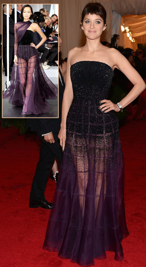 Marion Cotillard In Dior Dress For Met Gala 2012