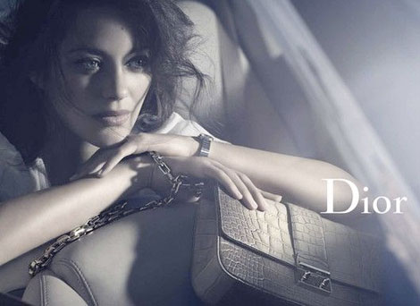Marion Cotillard Dior handbags fall winter 2011 2012 ad campaign