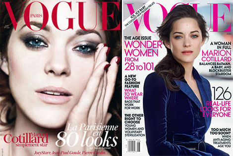 Marion Cotillard double Vogue cover August 2012