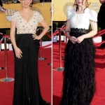 Maya Rudolph Naeem Khan Emilia Clarke Chanel black and white dresses 2012 SAG Awards