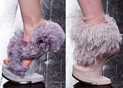 McQueen fall 2012 fluffy shoes