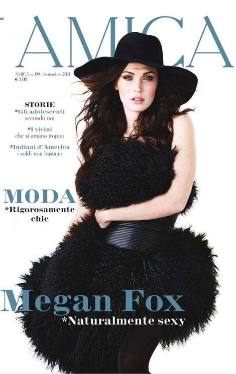 Megan Fox Amica September 2011 cover
