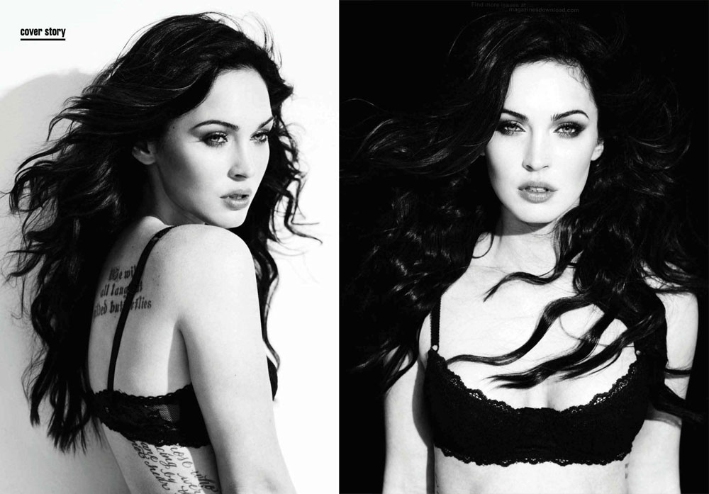 Megan Fox Is Flawless Amica September 2011