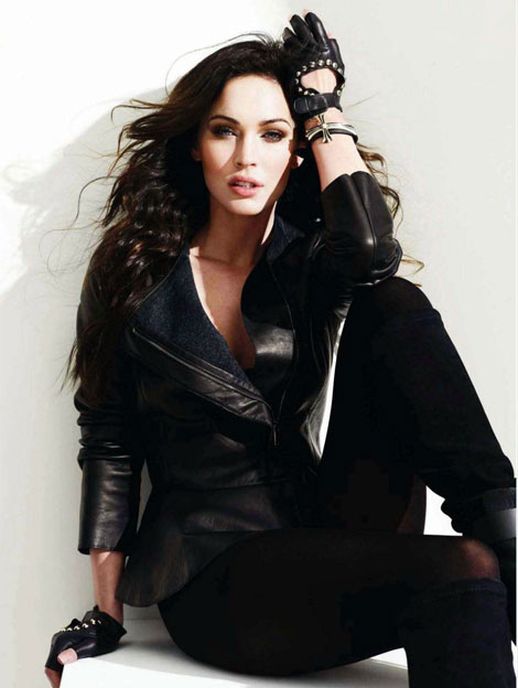 Megan Fox biker chic for Amica