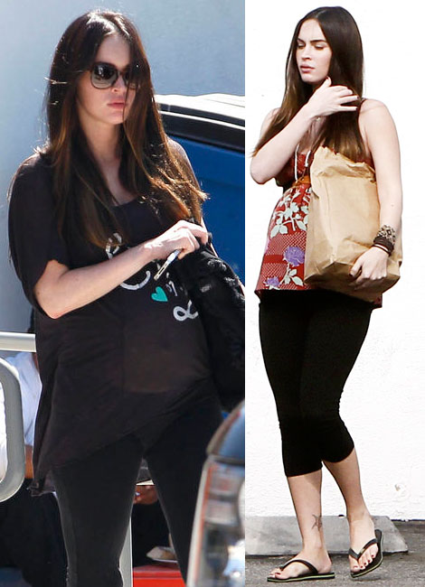 Megan Fox showing her baby bump