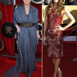 Meryl Street gray Vivienne Westwood Jennifer Carpenter red Emilio Pucci 2012 SAG dresses