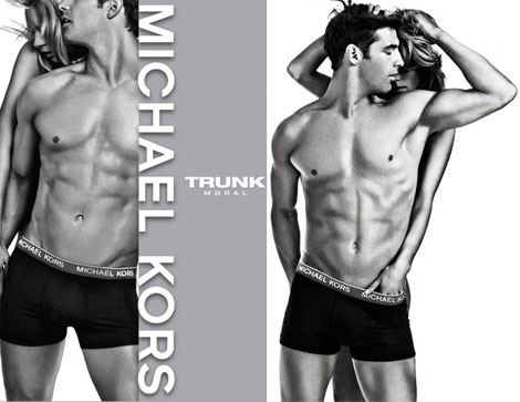 Michael Kors men underwear racy ad campaign