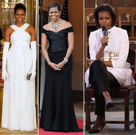 Michelle Obama Wears Alexander McQueen Again