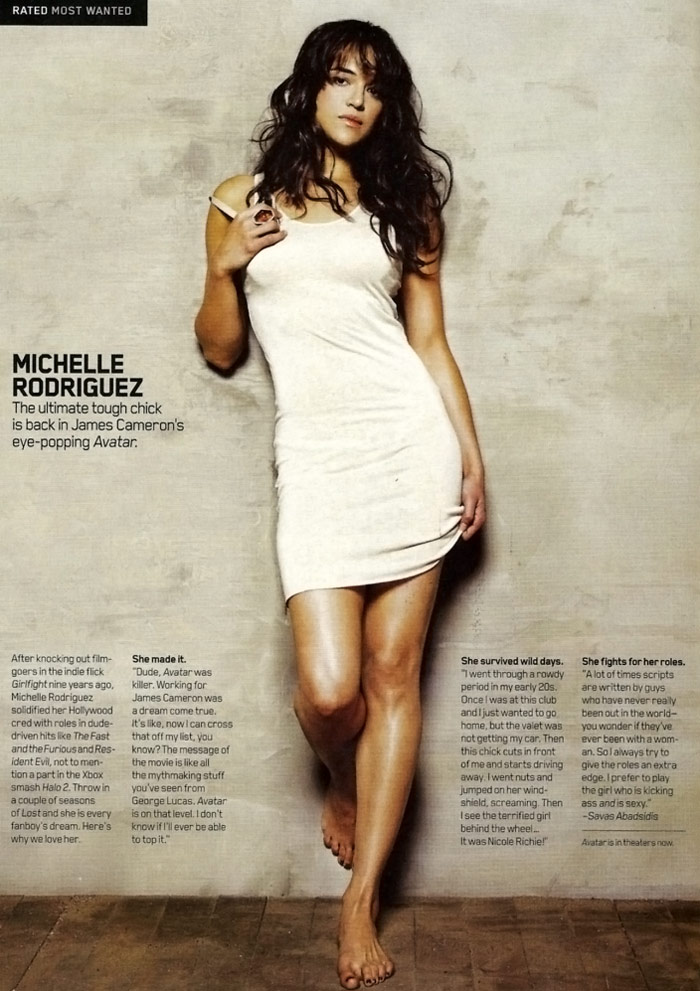 Michelle Rodriguez Does Maxim January 2010
