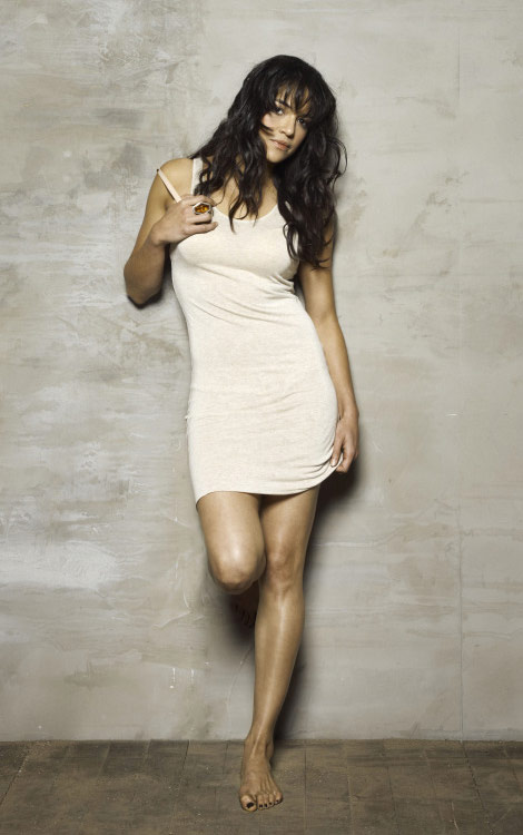 Michelle Rodriguez mini dress