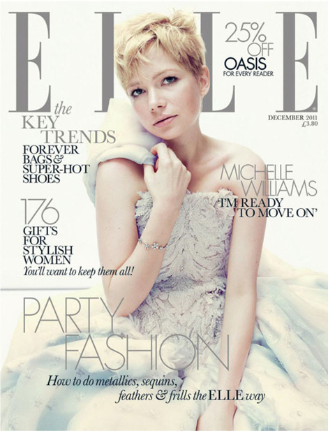 Michelle Williams Elle UK December 2011 cover