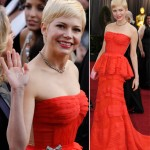 Michelle Williams Louis Vuitton red dress 2012 Oscars