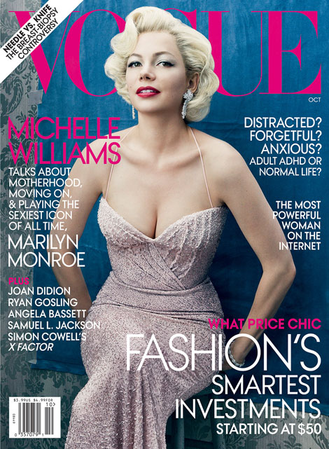 Michelle Williams As Marilyn Monroe For Vogue October 2011
