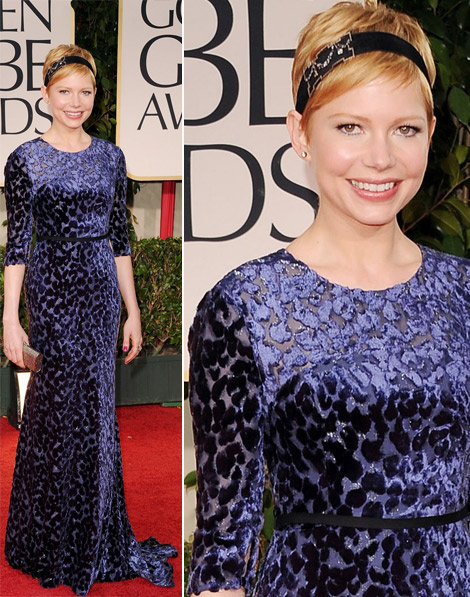 Michelle Williams blue Jason Wu dress 2012 Golden Globes