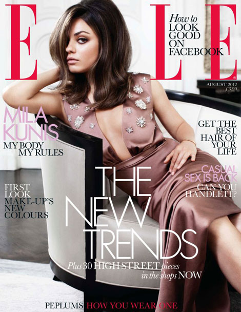 Mila Kunis Elle UK August 2012 cover