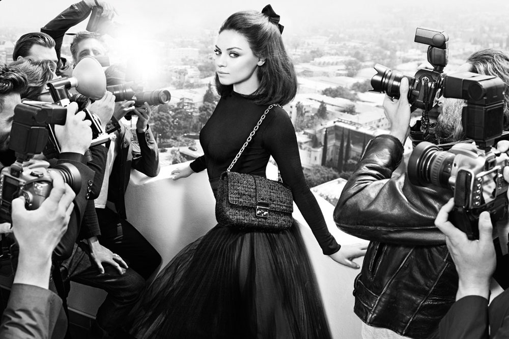 Mila Kunis Lady Dior bags 2012 Dior new ad campaign