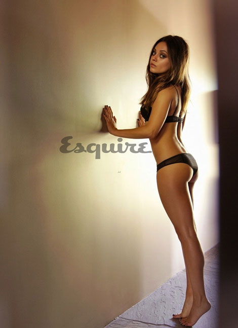 Mila Kunis forgets clothes for Esquire magazine