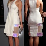 Miley Cyrus in white apron dress 2012 People s Choice Awards