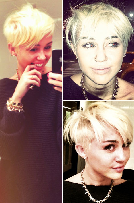 Miley Cyrus new short haircut