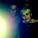 Miley Cyrus showing her new haircut and her hairstylist