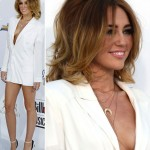 Miley Cyrus shows dramatic cleavage wears no pants for Billboard Awards 2012