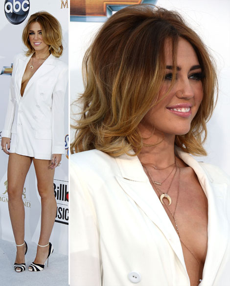 Miley Cyrus In White JP Gaultier Blazer For Billboard Awards 2012
