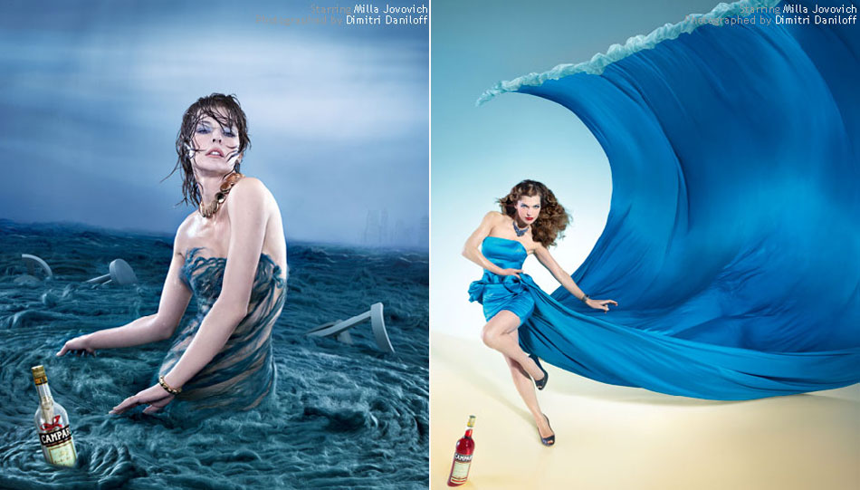 Milla Jovovich Campari Calendar June January