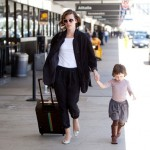 Milla Jovovich with daughter Ever Gabo cute together