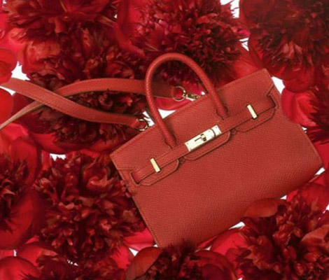 Mini Hermes Birkin red