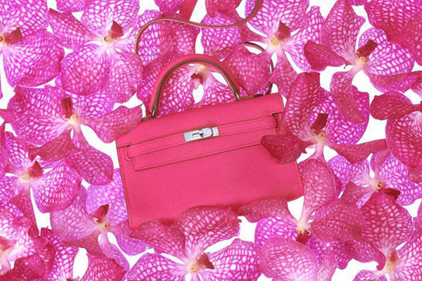 Mini Hermes Kelly pink