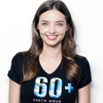 Miranda Kerr Recruiting For Yoga. For Earth Hour Challenge