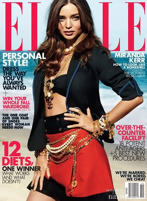 Miranda Kerr Elle October 2011 cover