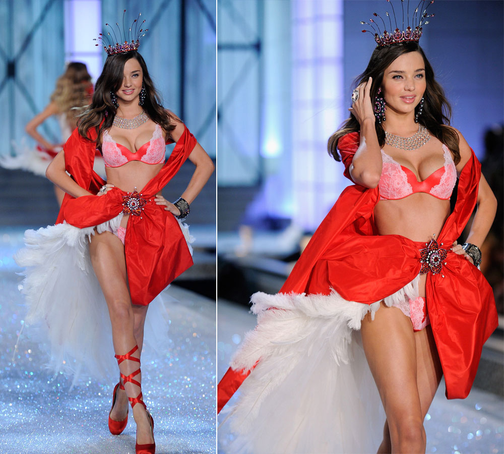 Miranda Kerr s Victoria s Secret red ballet outfit