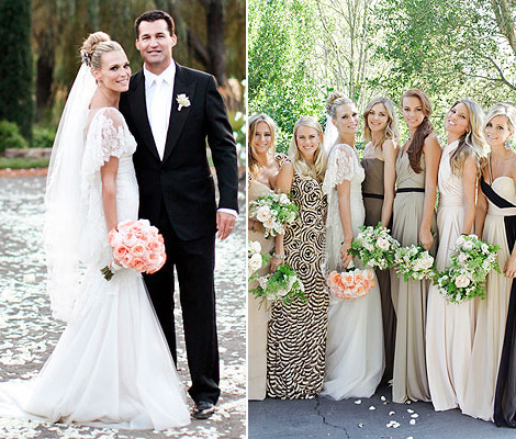 Molly Sims The Bride Wearing Marchesa White Wedding