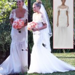 Molly Sims white Marchesa wedding dress