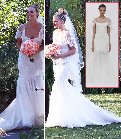 Molly Sims, The Bride, Wearing Marchesa White Wedding Dress