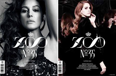 Monica Bellucci, Lana Del Rey Cover Zoo Magazine Summer 2012